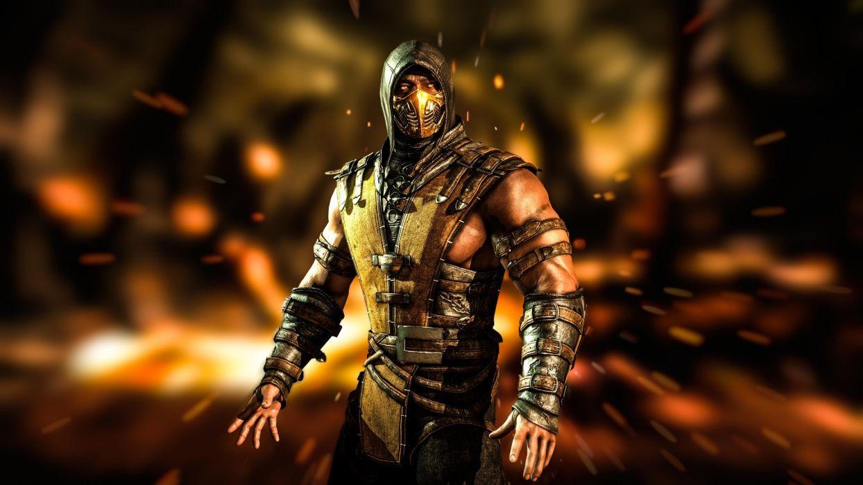 Game Mortal Kombat X Scorpion Ninja Art Wallpaper 1920x1080