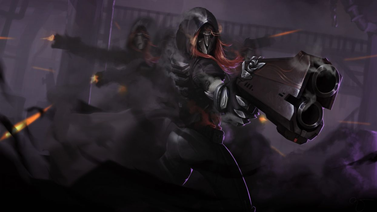Game Reaper Death Blossom Overwatch Art Pistol Bullet