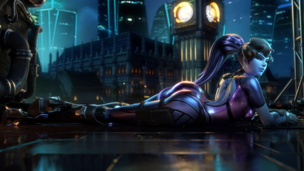 Game Sensuality Sensual Sexy Woman Girl Art Widowmaker Overwatch