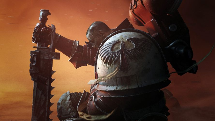 Game space-marine-dawn-of-war-3-art-sword wallpaper