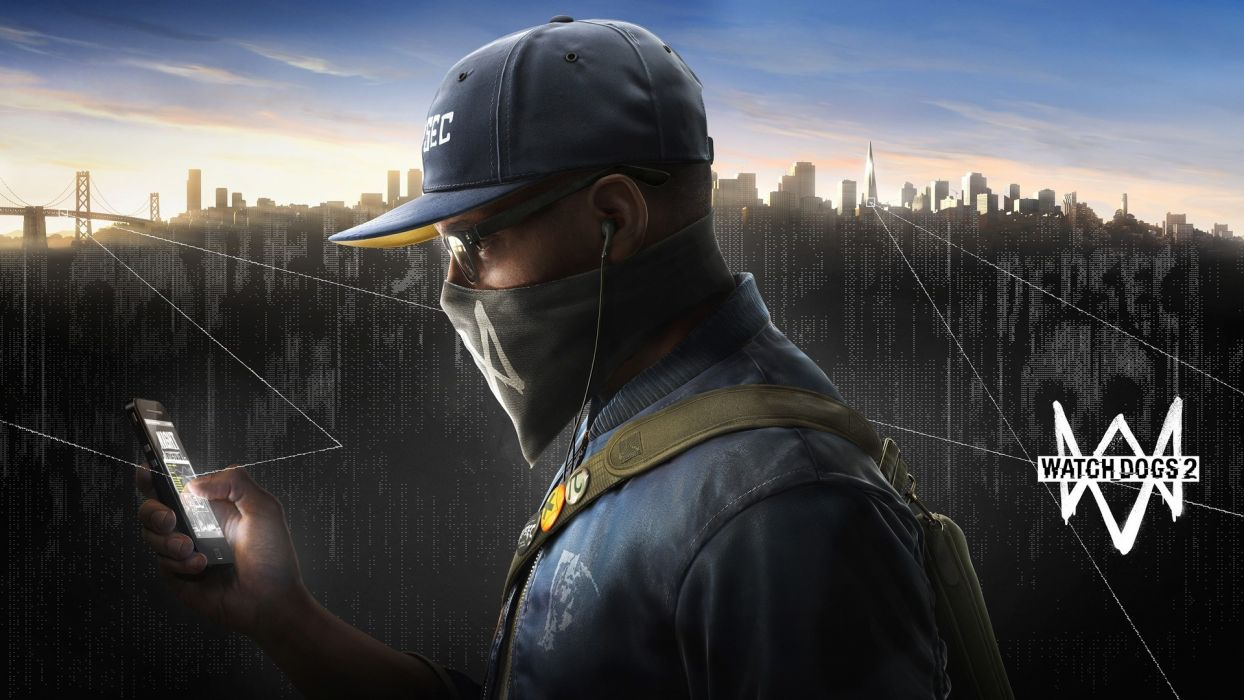 Game Watch Dogs 2 Marcus Hacker Phone Wallpaper 1920x1080