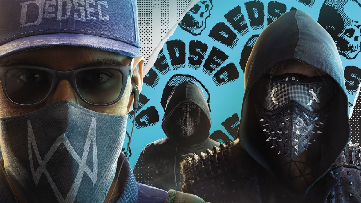 Game Watch Dogs 2 Marcos Wrench Dedsec Mask Wallpaper 1920x1080