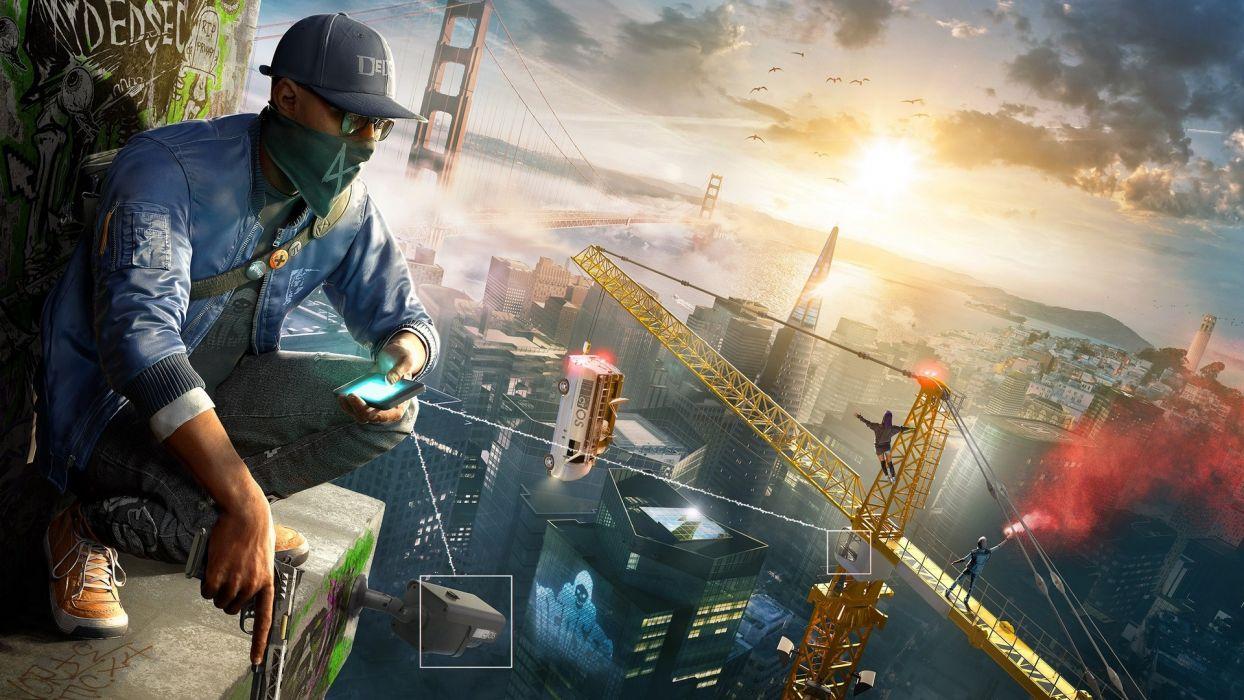 Game watch dogs 2-Marcus-hacker-san franscisco wallpaper