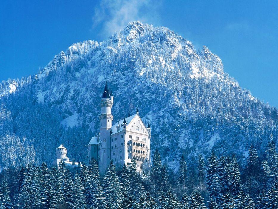 paisajes nevados bellos palacio wallpaper