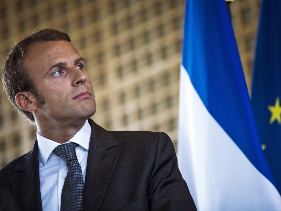 enmanuel macron presidente francia wallpaper