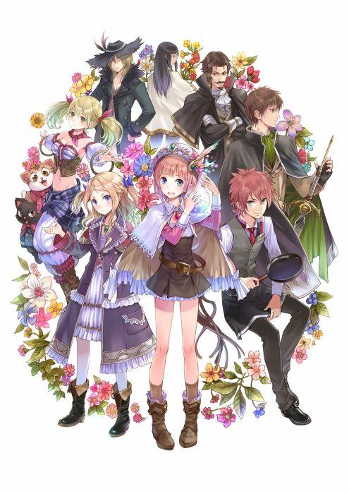 Anime Girl Cute Beautiful Long Hair Boy Group Wallpaper 2893x4092
