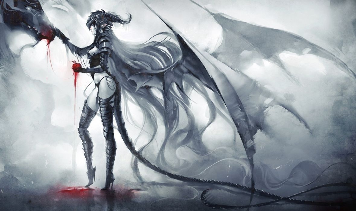 Dragon Lady Dark or Fantasy Monsters fantasy wallpaper