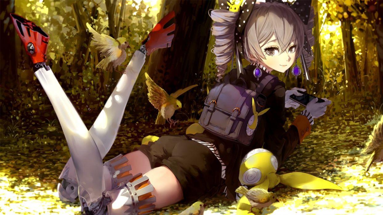 Houkai Gakuen Guns GirlZ Anime Girls Bronya Zaychik Mecha Girls Robot Birds wallpaper