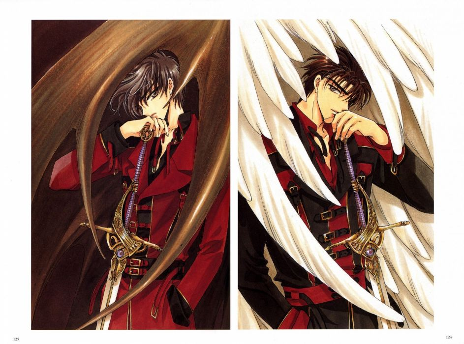 anime series guys angel wings X wallpaper