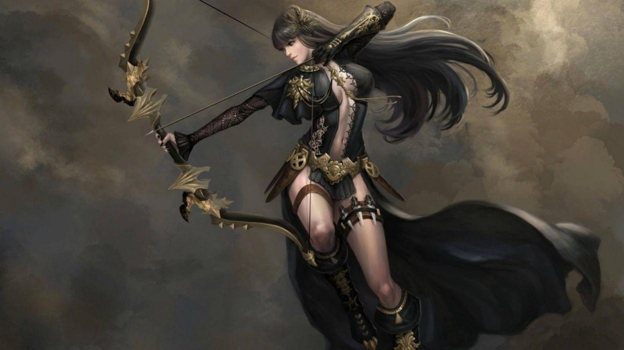 fantasy woman dress long hair warrior wallpaper