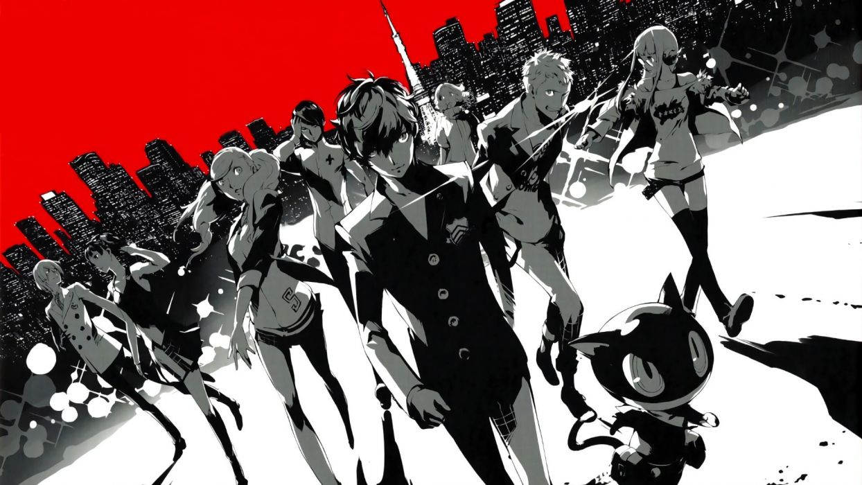 persona anime series group wallpaper