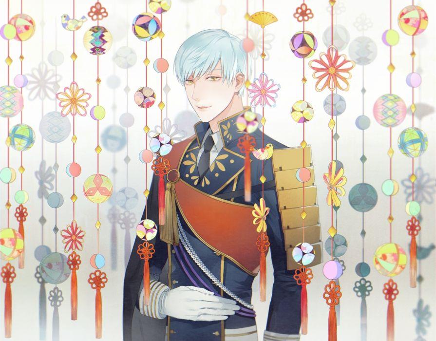 anime boy touken ranbu ichigo hitofuri military uniform wallpaper