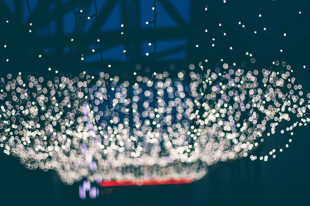 glare lights bokeh scenic wallpaper