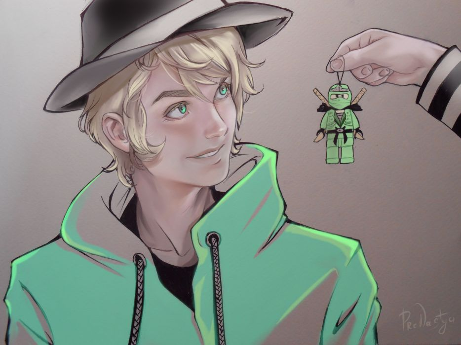 anime boy shoujo blonde jacket hat wallpaper