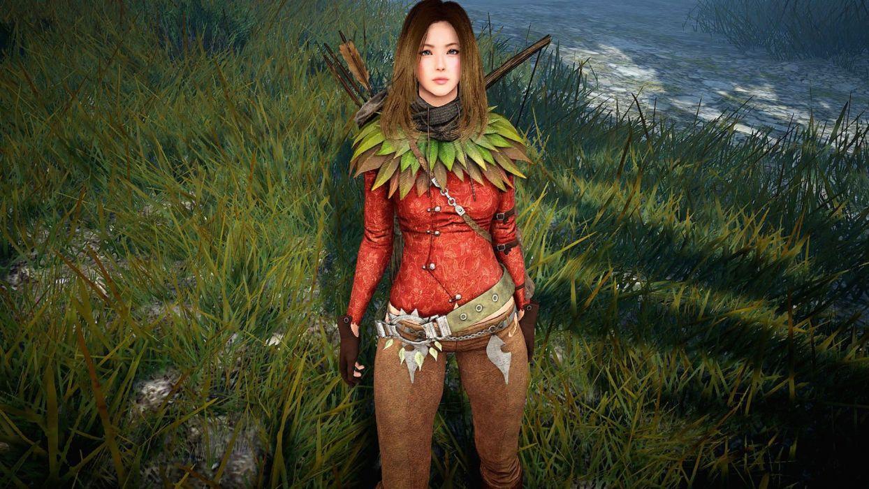 Arts-woman-girl-black desert- fantasy-elf-ranger-archer-picture wallpaper