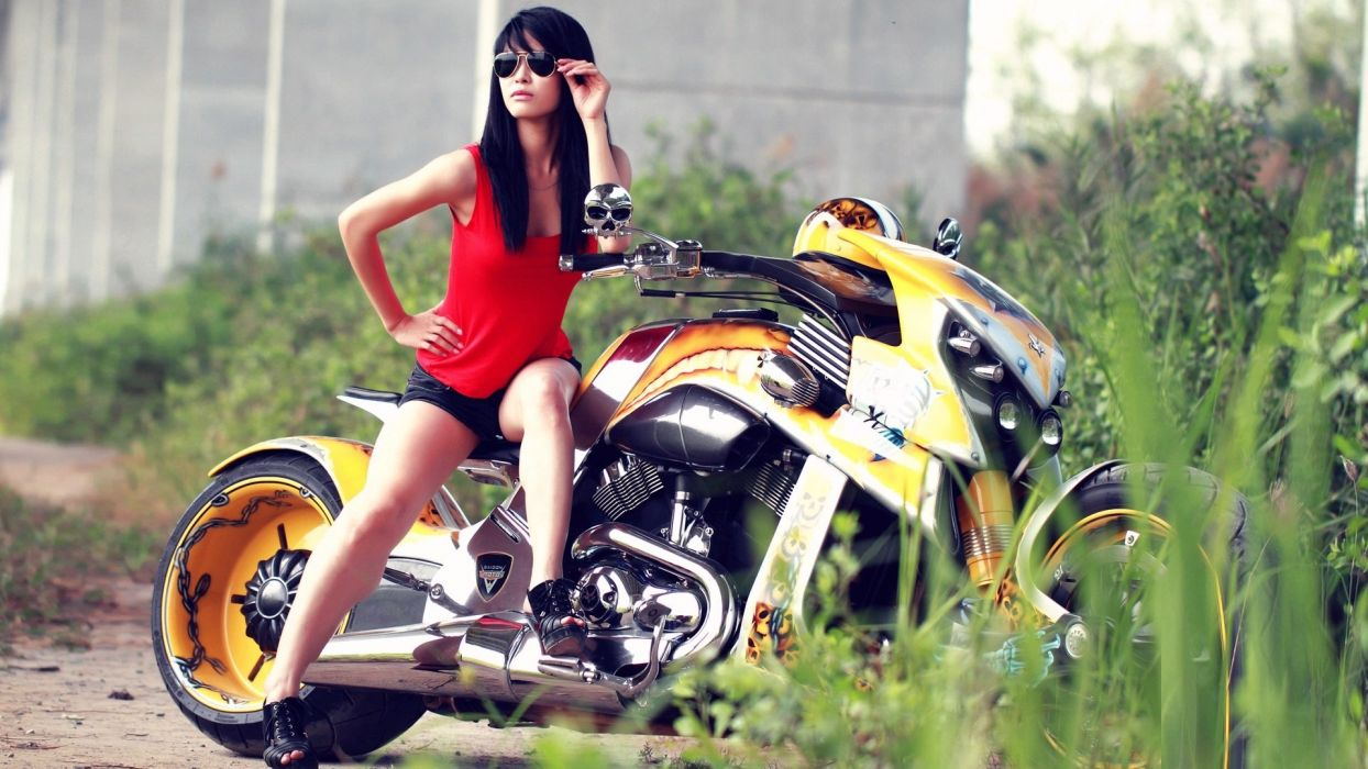 Sensuality-sensual-sexy-woman-girl-machine-bike-motorcycle-legs-stylish-model wallpaper