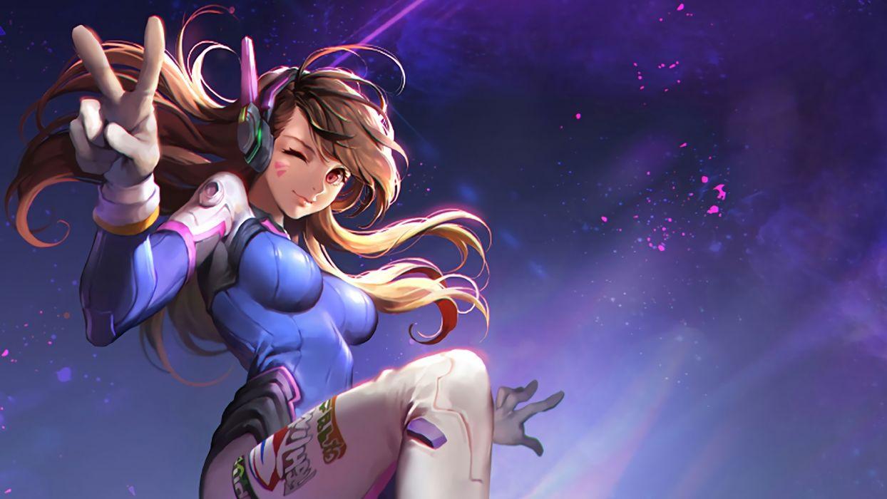 Dva Overwatch Game Girl 16612 Wallpaper 1920x1080 1090164
