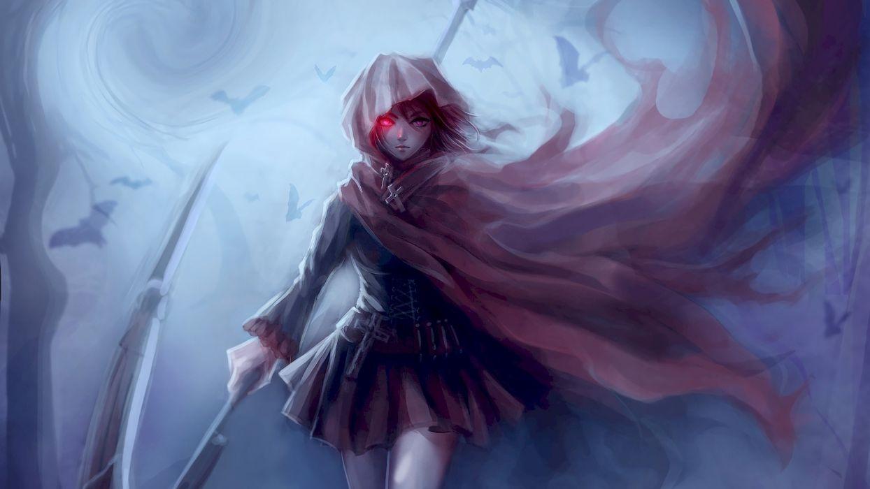 ruby-scythe-anime-girl-rwby-(4853) wallpaper