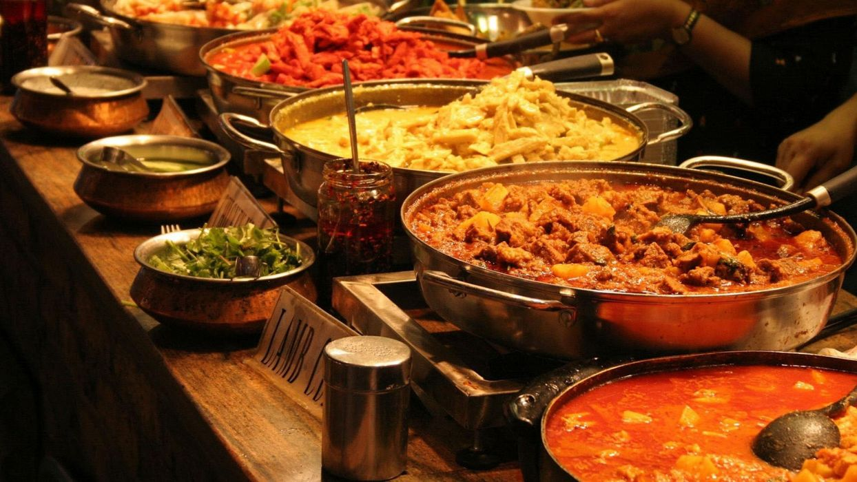 comida hindu platos salsas wallpaper
