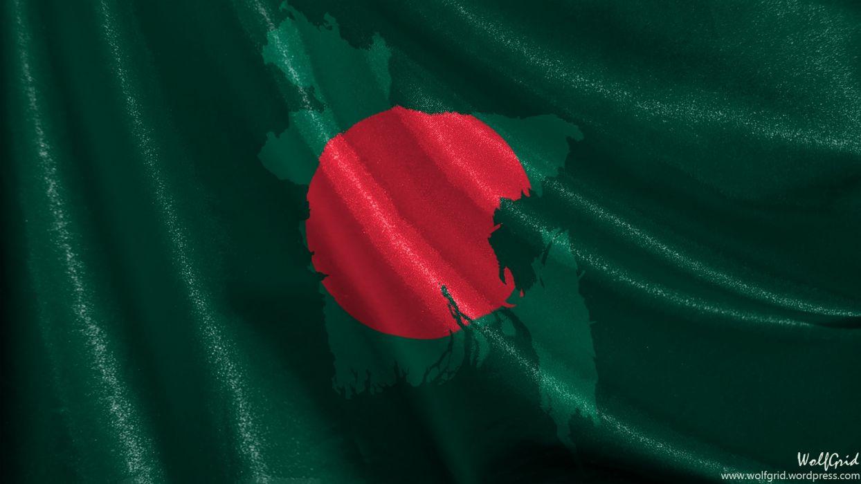 Bangladesh Satin Flag wallpaper