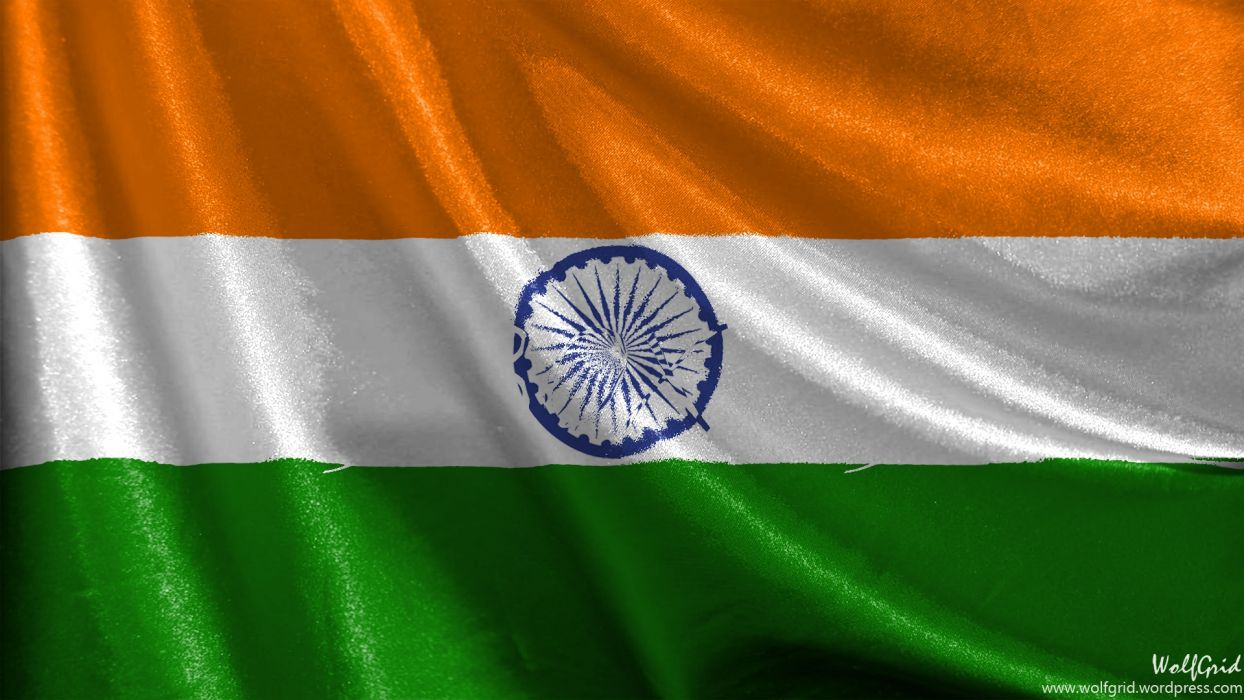 India Satin Flag wallpaper