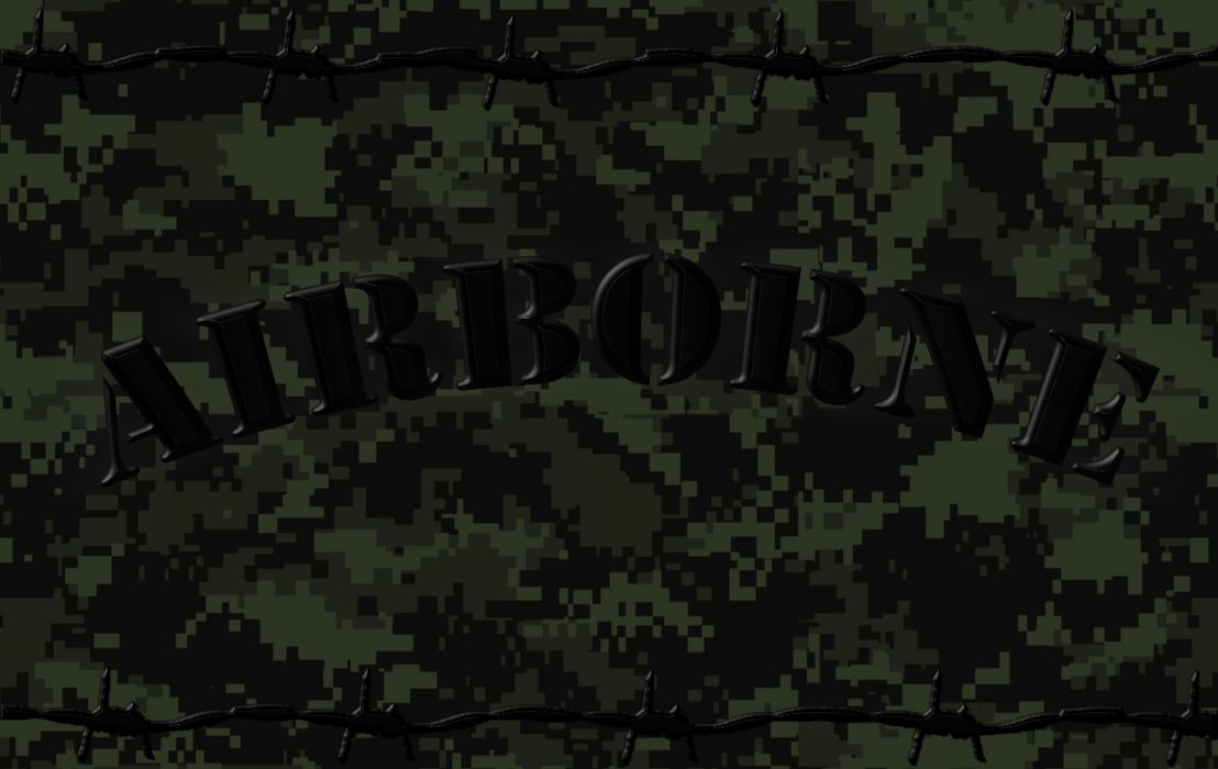 Us Army Airborne Acu Camo Barbedwire Wallpaper 1900x1200