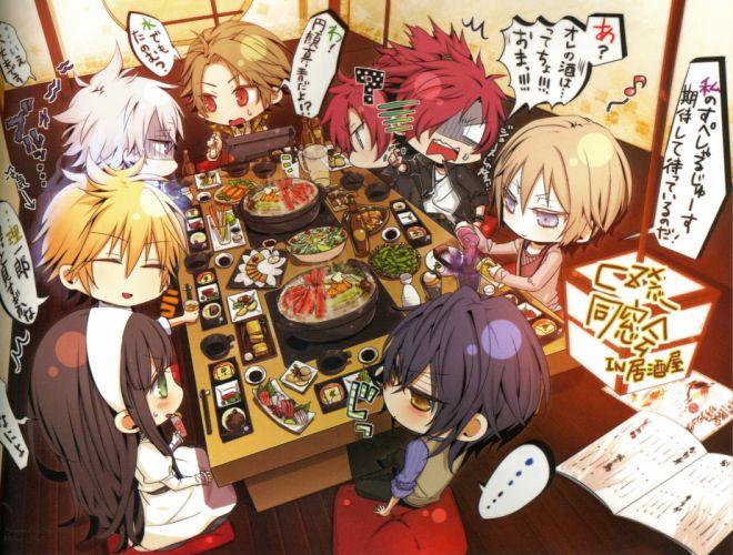 clock zero shuuen no ichibyou anime boys chibi cute meal kurou nadeshiko otome wallpaper