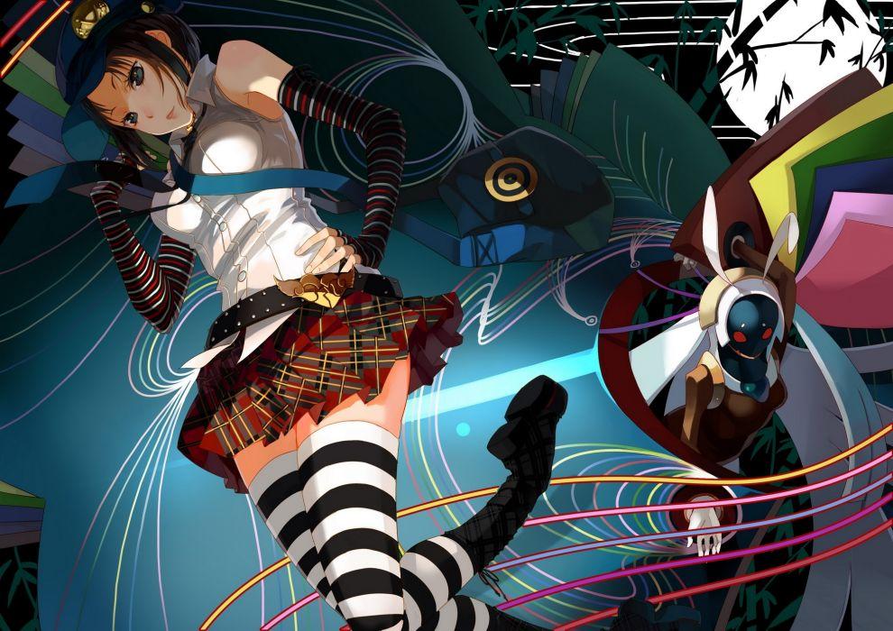persona 4 marie skirt zettai ryouiki anime style games wallpaper