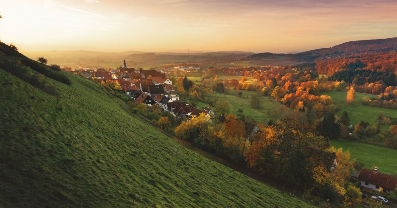 autumn fall germany grass hills landscape nature Schieder-Schwalenberg valley wallpaper