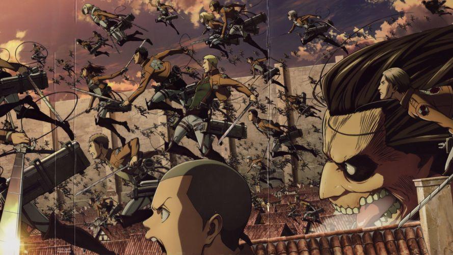 Attack on Titan tem group series anime wallpaper