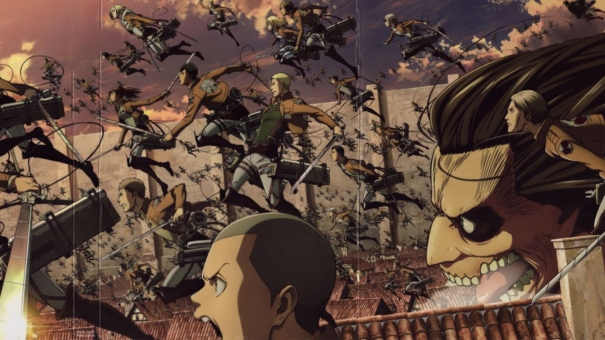 Attack On Titan Tem Group Series Anime Wallpaper 1920x1080 1090421 Wallpaperup