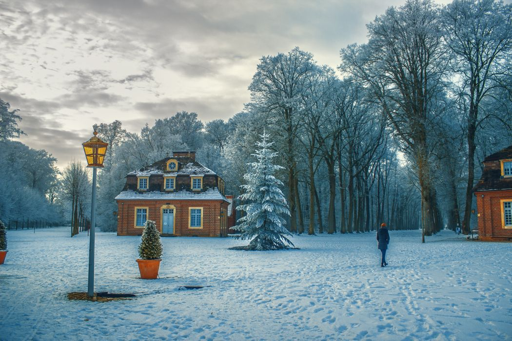 beautiful cold fog freezing frost frosty frozen gloomy houses ice icy lamp post landscape lane nature sky snow snow capped snow-white snowdrift snowstorm travel trees walking weather winter woods wallpaper