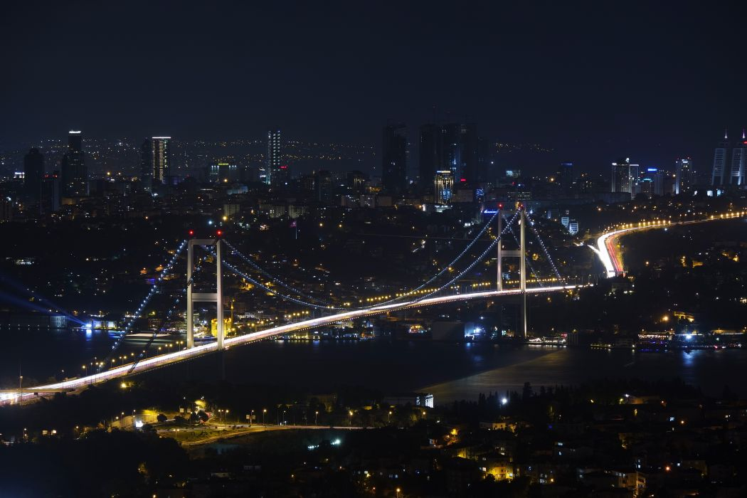 bridge city city-challenge cityscape Istanbul night turkey BurakKebapci wallpaper