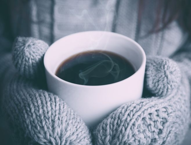 christmas coffee cold gloves steam warm winter xmas wallpaper