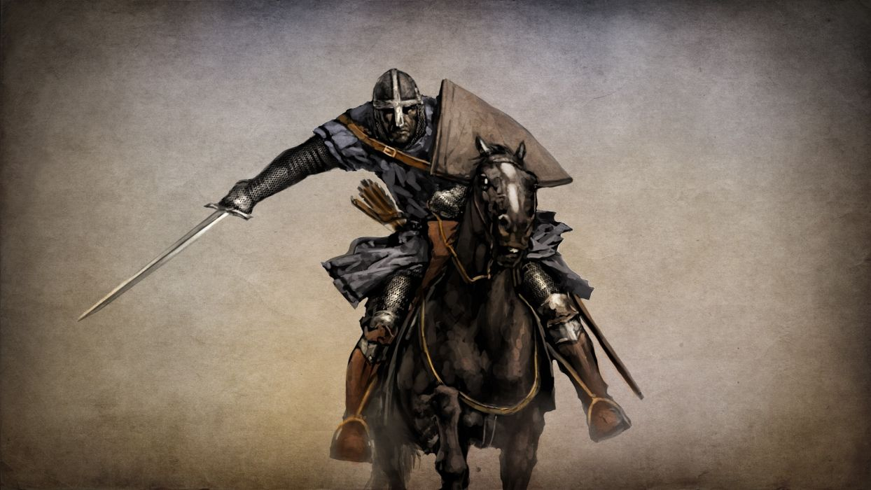 mount and blade knight horse sword armor wallpaper