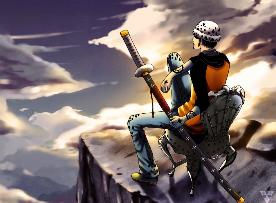 trafalgar d water law one piece katana sheat chair wallpaper