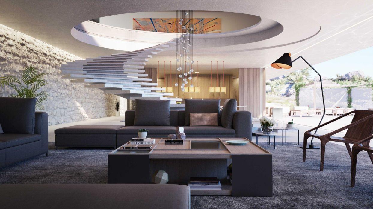 salon moderno muebles interior lujo wallpaper