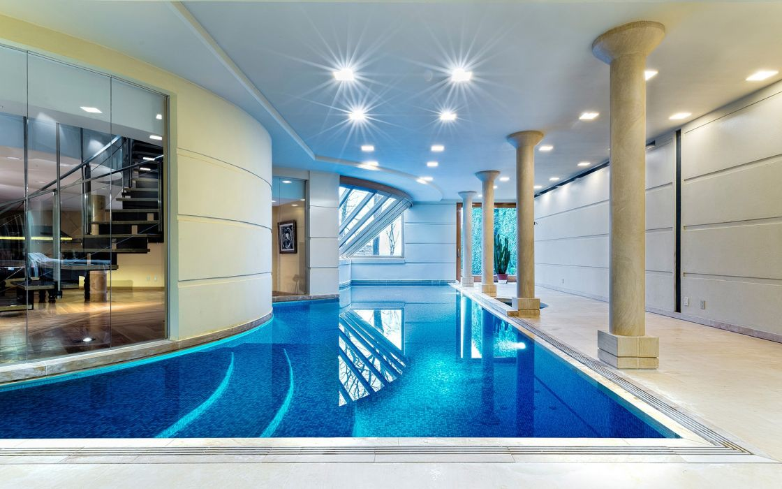 piscina lujo toronto canada interior wallpaper