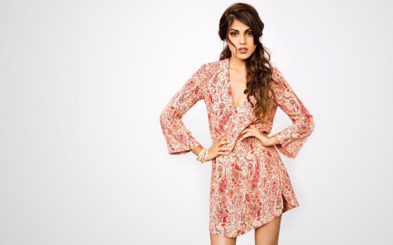 Rhea Chakraborty bollywood actress celebrity model girl beautiful brunette pretty cute beauty sexy hot pose face eyes hair lips smile figure indian wallpaper