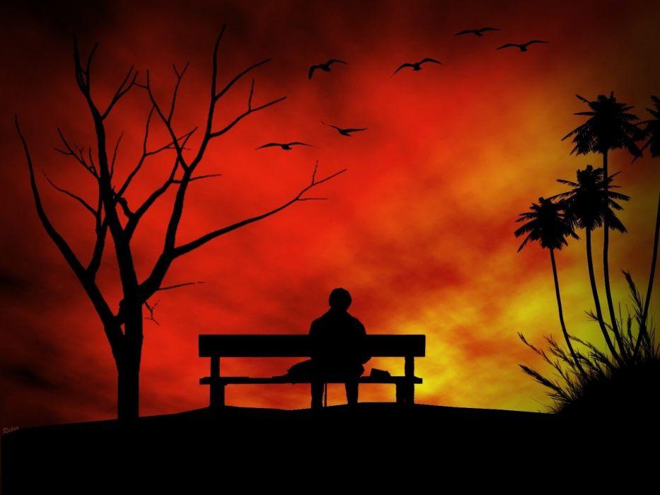 Photography-art-bench-alone-man-broken-love-lover-