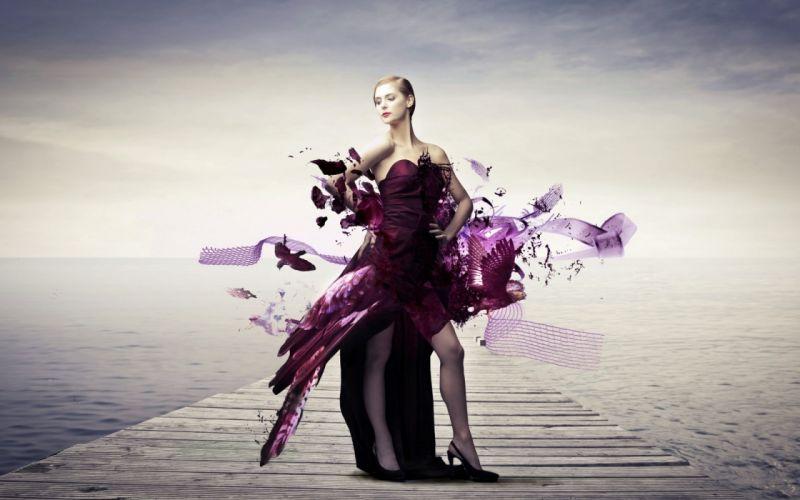 Photography-sensuality-sensual-sexy-woman-girl-arts-3D-style-dress wallpaper