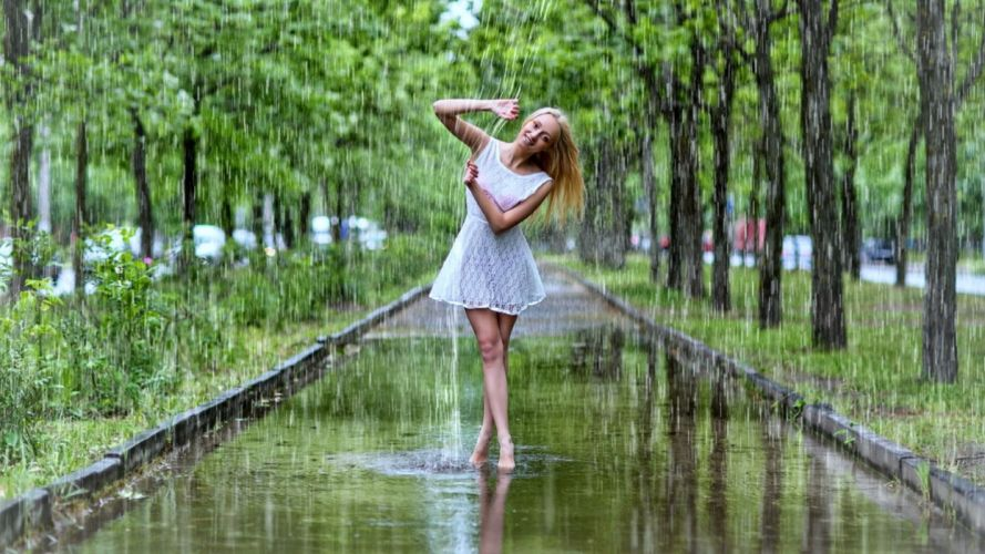 Photography-sensuality-sensual-sexy-woman-girl-stylish-dress-rain wallpaper