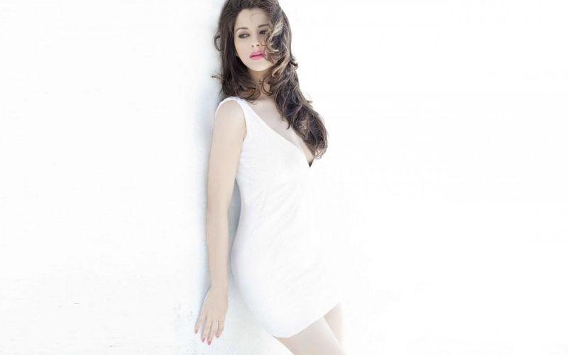 Sensuality-sensual-sexy-woman-girl-Madhurima-actress-dress-white wallpaper