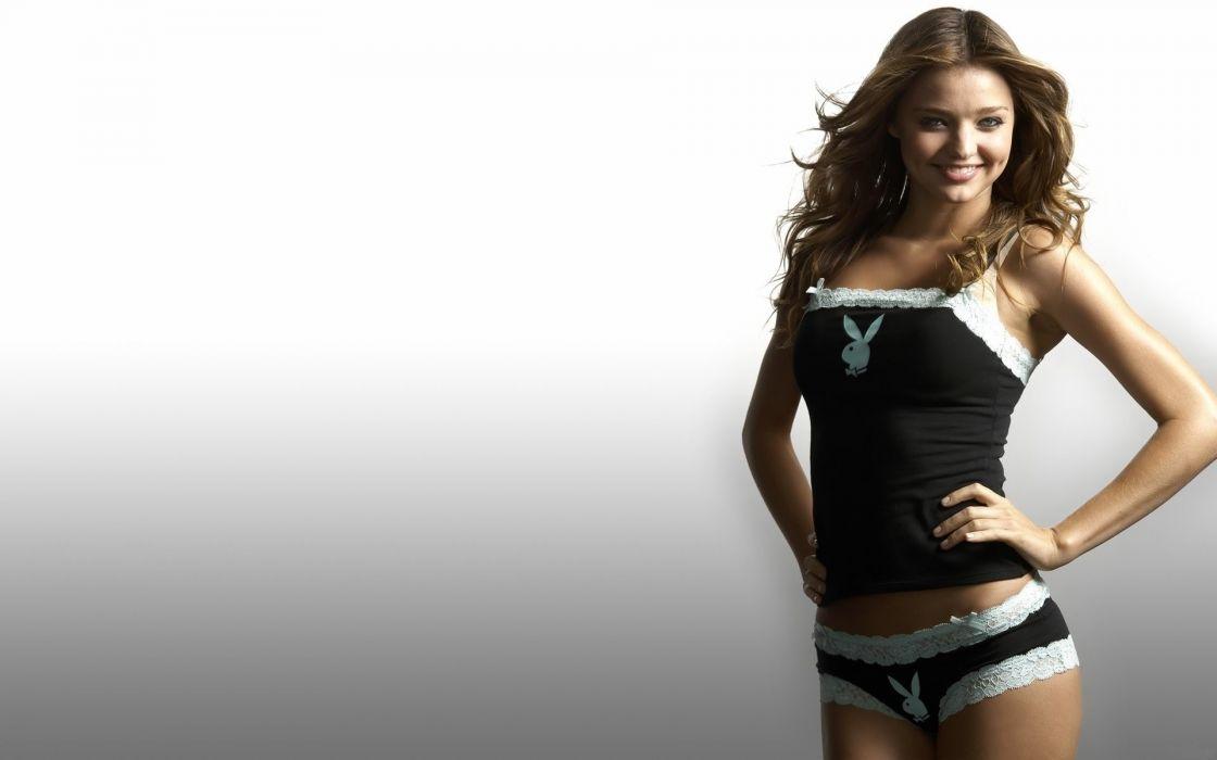 Sensuality-sensual-sexy-woman-girl-short-Miranda Kerr-lingerie-playboy wallpaper
