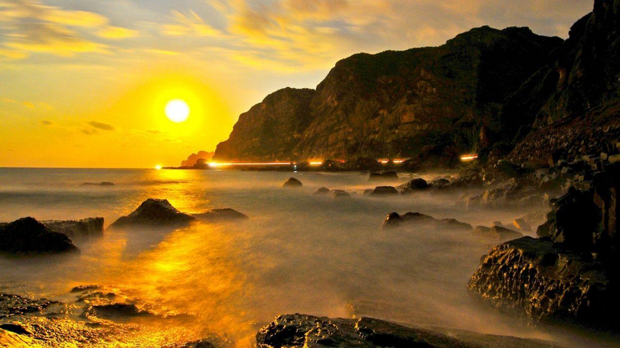 Coastal-sunset wallpaper