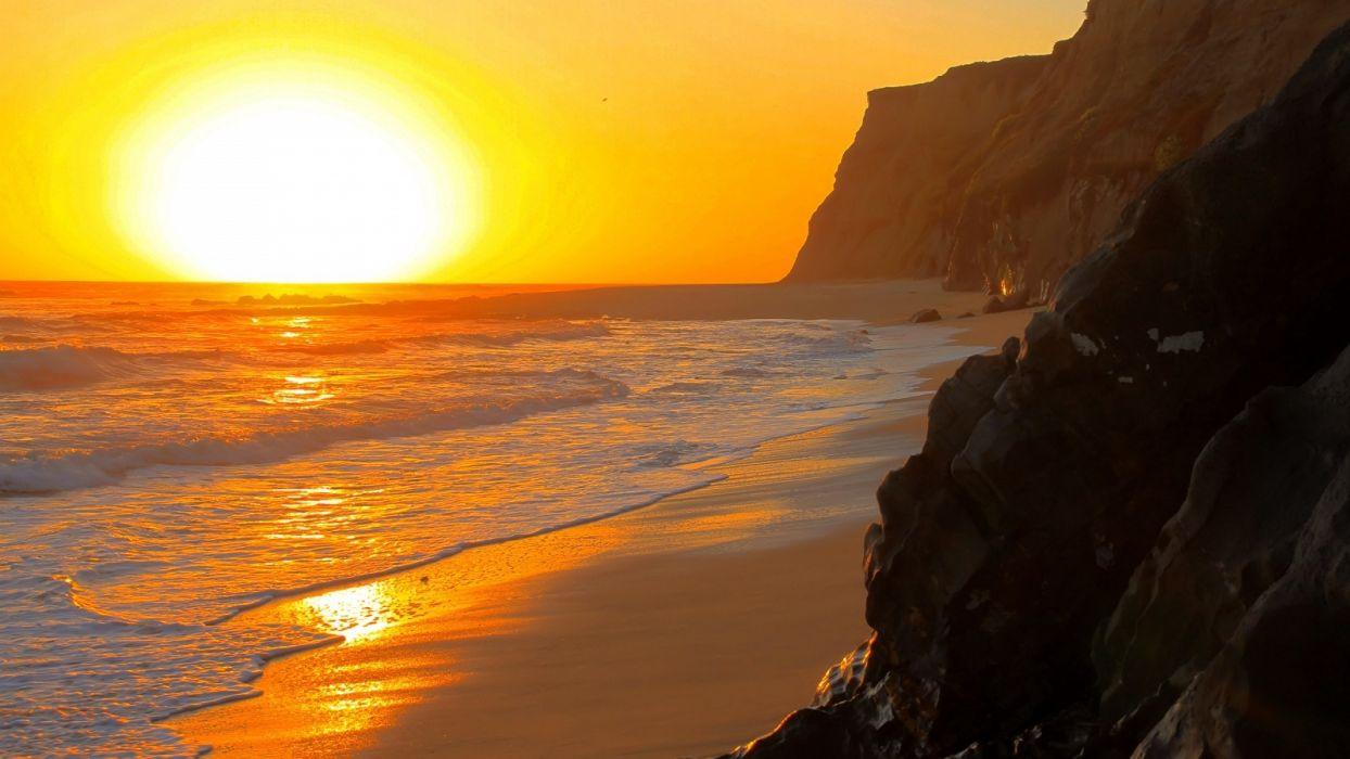 Coast-Sunset wallpaper