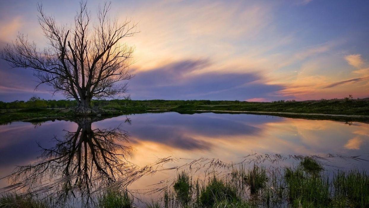 landscape-lake-sunset wallpaper