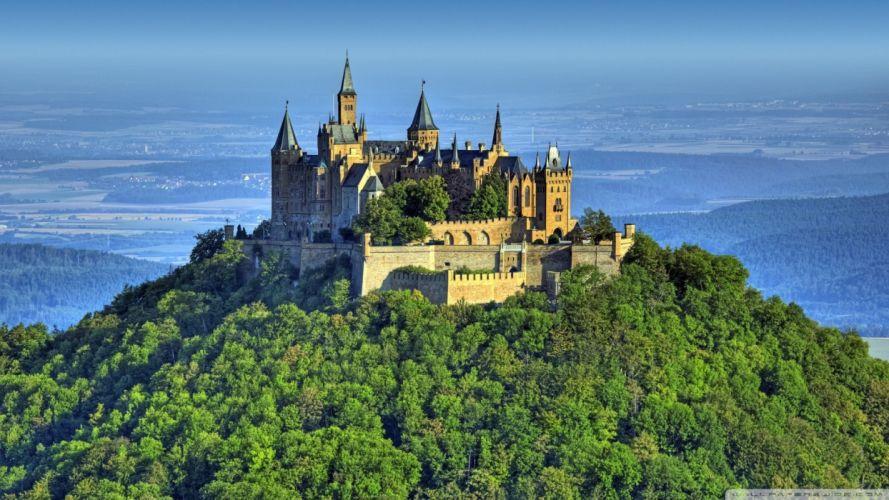 Mountain-Castle wallpaper
