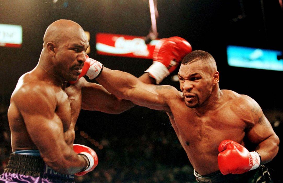 mike tyson evander holyfield combate boxeo americanos deporte wallpaper