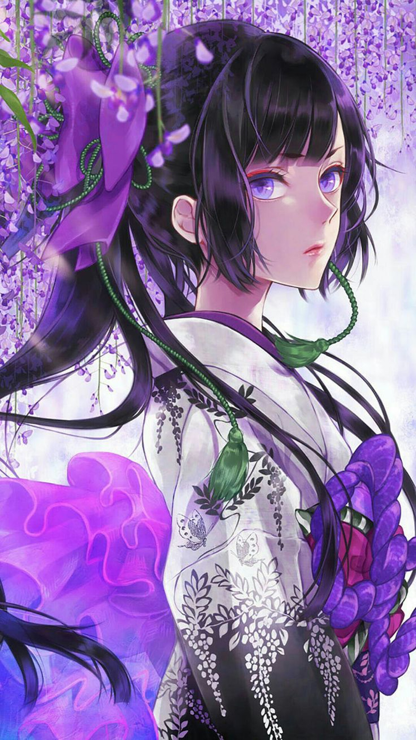 Anime Girl Kimono Beautiful Wallpaper X  Wallpaperup